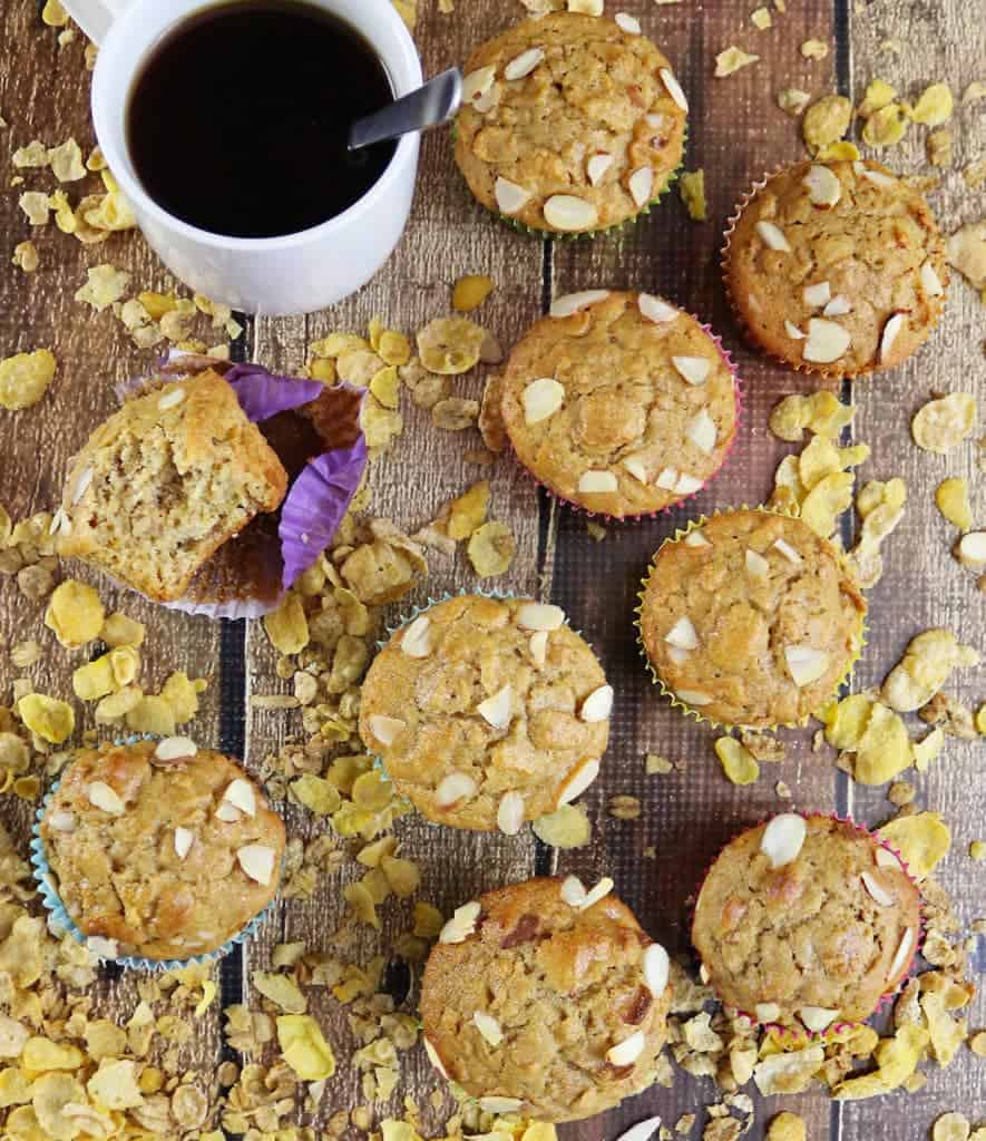 Blender Honey Almond Cereal Muffins with Post Honey Bunches of Oats