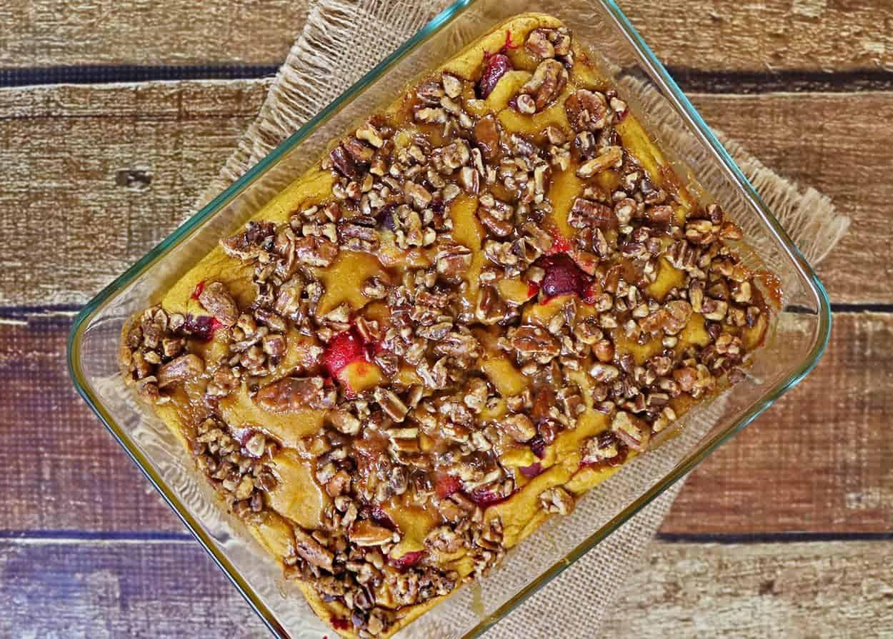 Sweet Potato Cranberry Soufflé