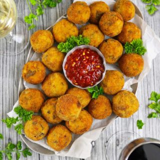 Black-Eyed Peas And Collard Greens Croquettes - A New Years Tradition