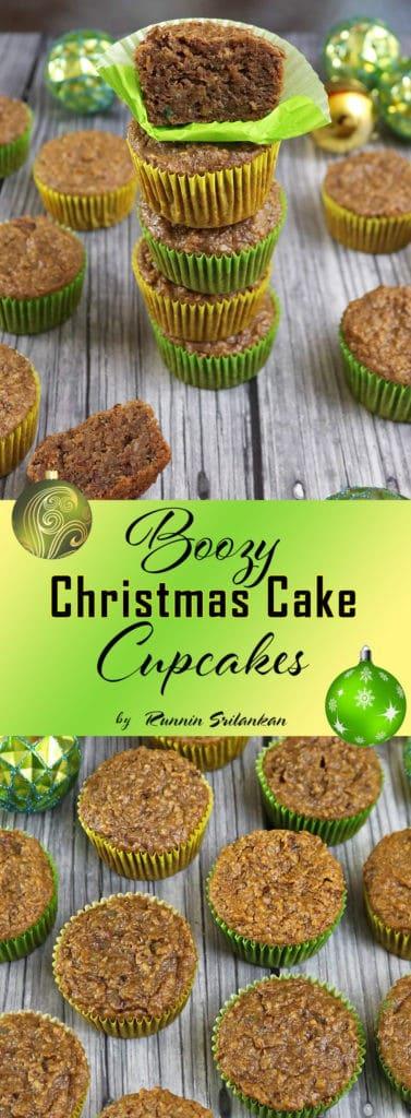 Boozy Christmas Cake Cupcakes - Sri Lankan Christmas Cake.