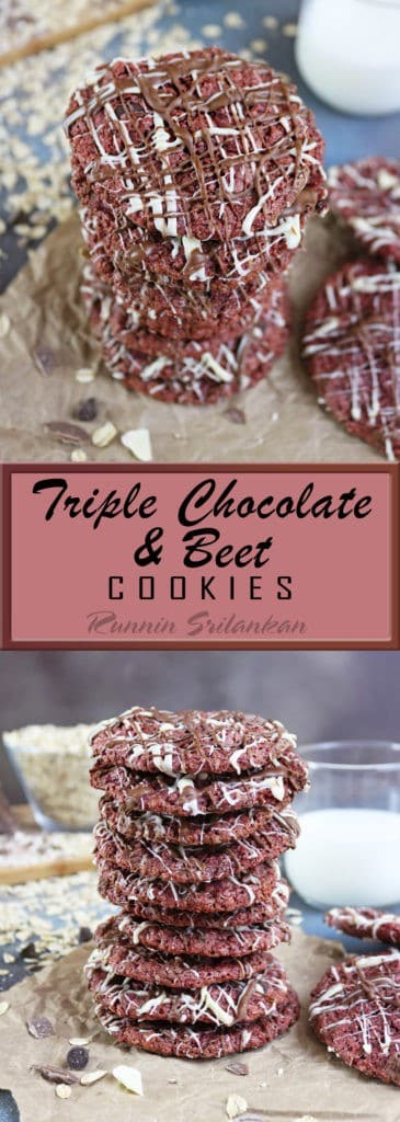 Triple Chocolate Beet Cookies