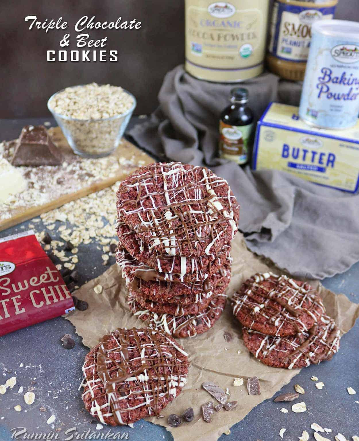 Triple Chocolate Beet Cookies
