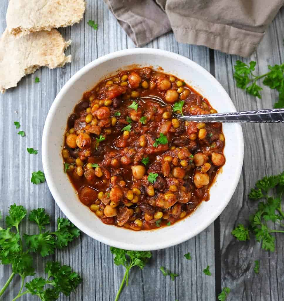 Slow Cooker Three Bean Stew