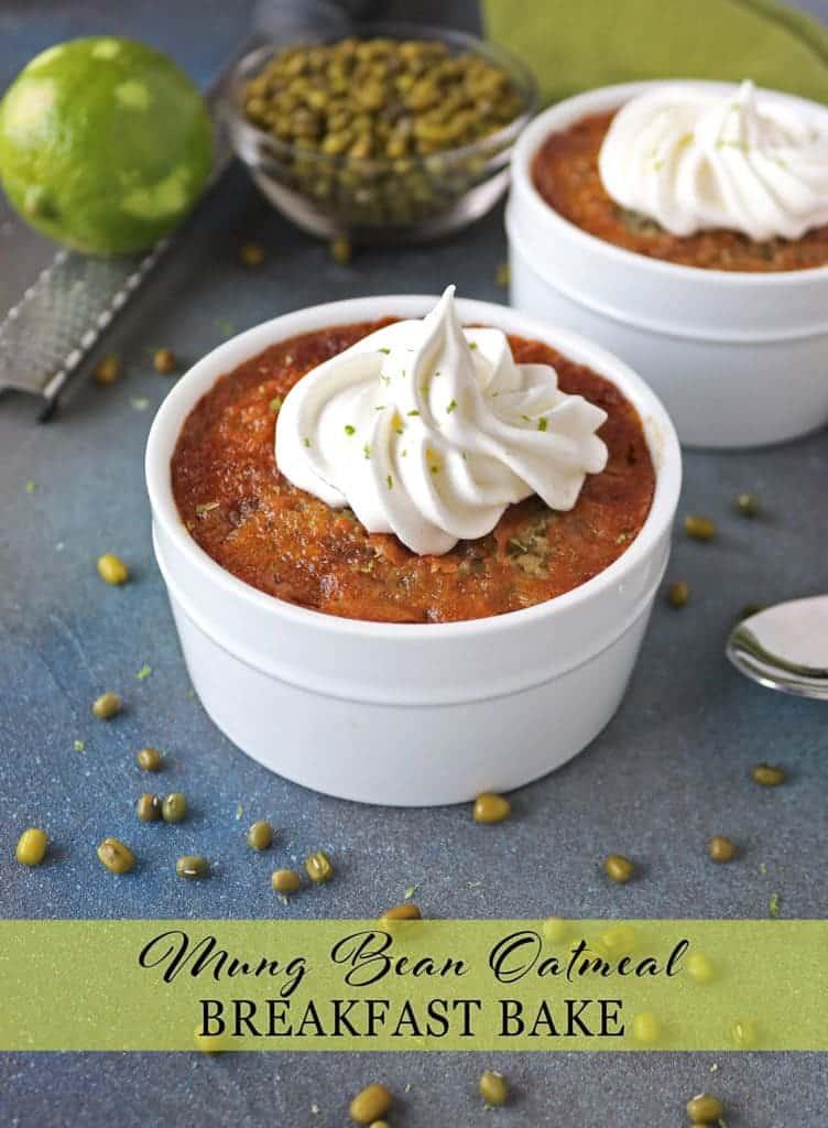 Mung Bean Oatmeal Breakfast Bake