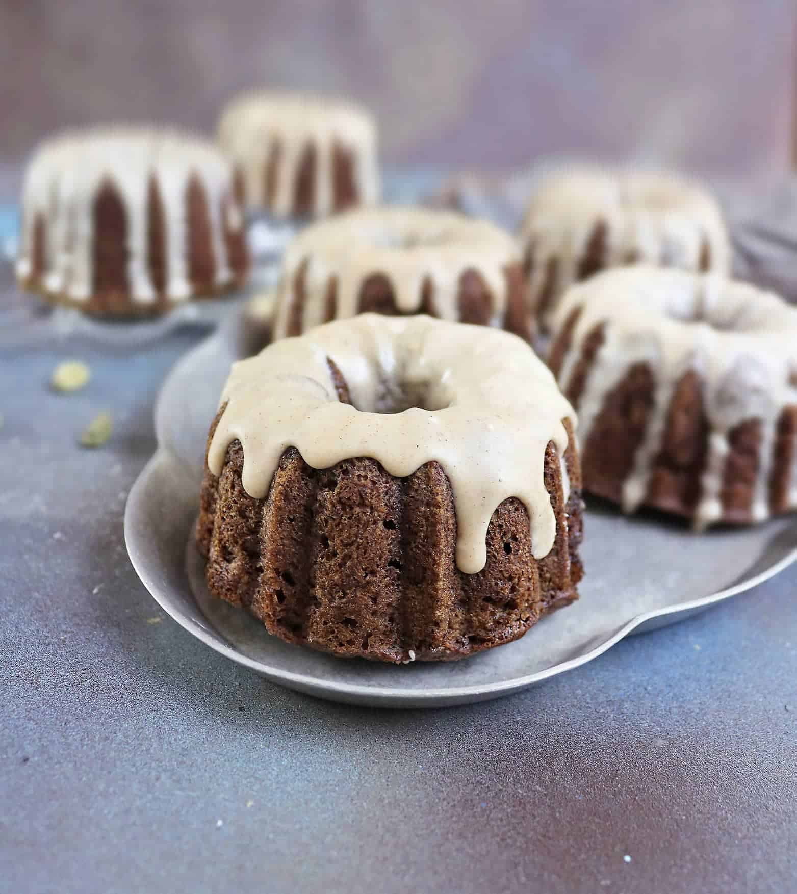 Buckwheat Banana Mini Bundt Cakes