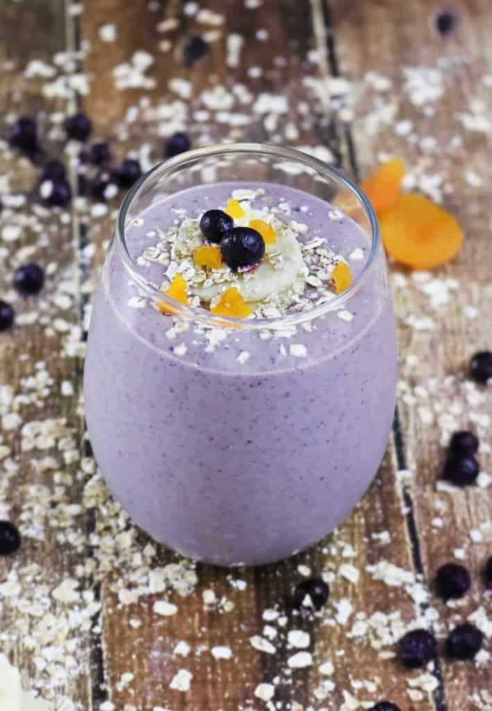 Oatmeal Wild Blueberry Breakfast Smoothie