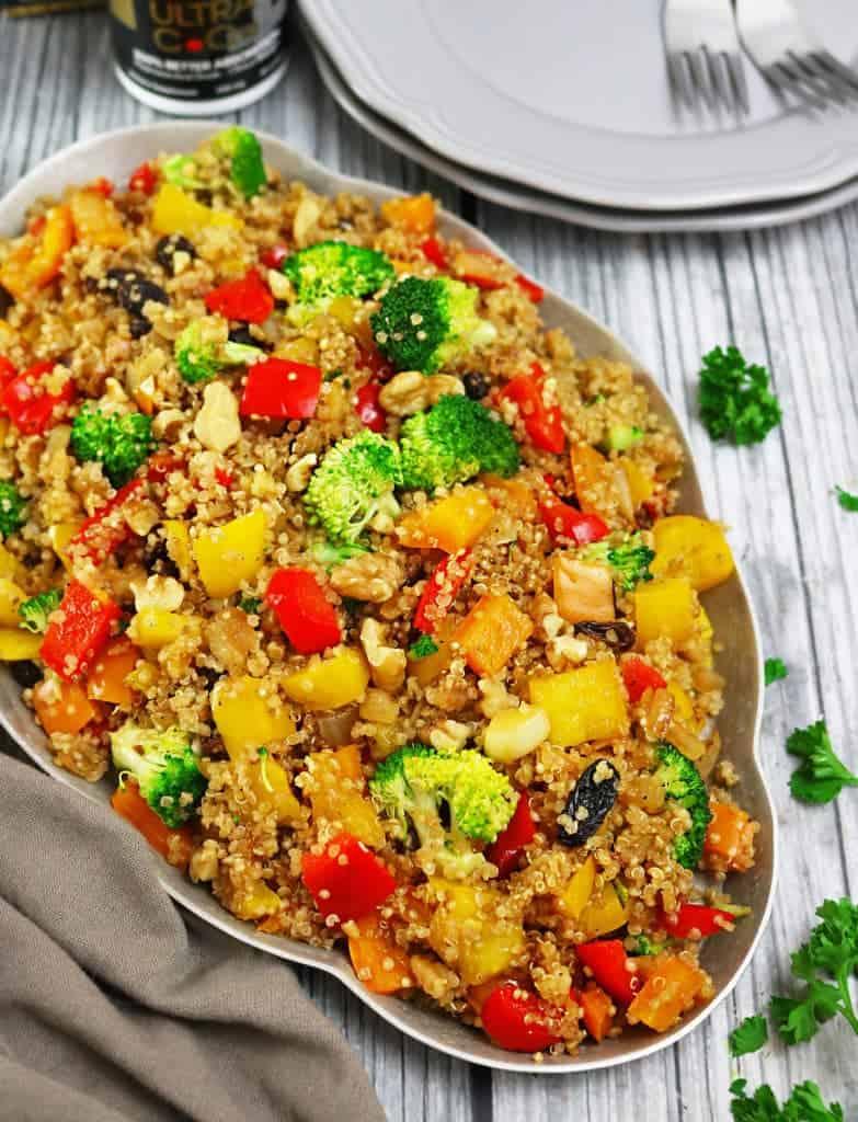 Warm Veggie Quinoa Salad