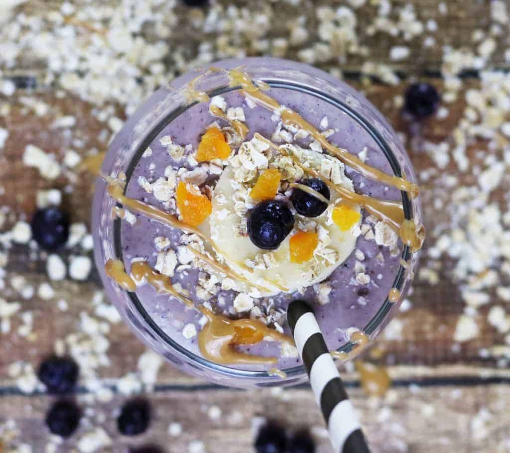 Oatmeal Wild Blueberry Breakfast Smoothie