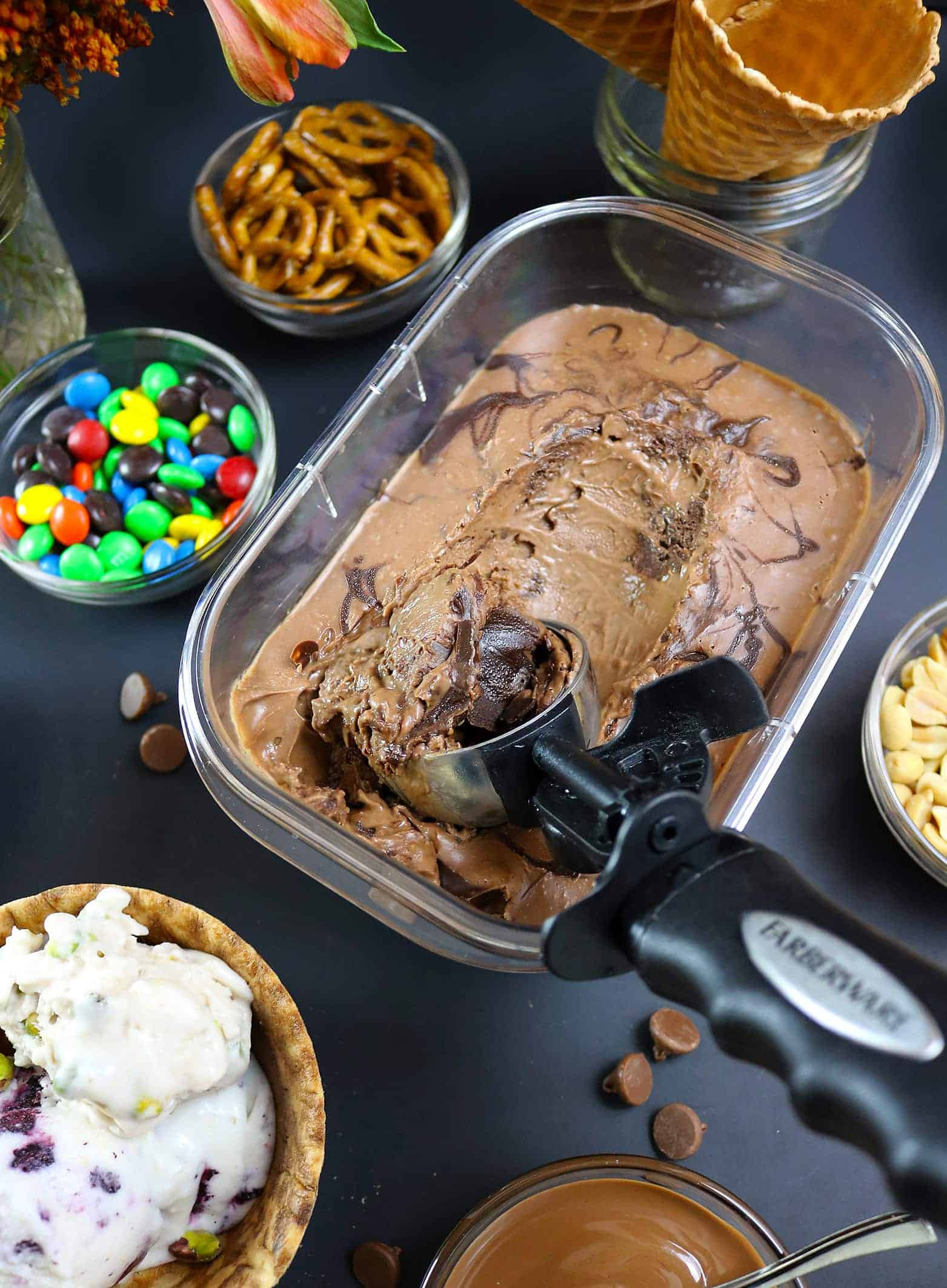No-Churn, Dairy-Free Chocolate Ice Cream Movie Night Party