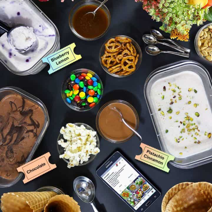 No-Churn, Dairy-Free Ice Cream Movie Night Party