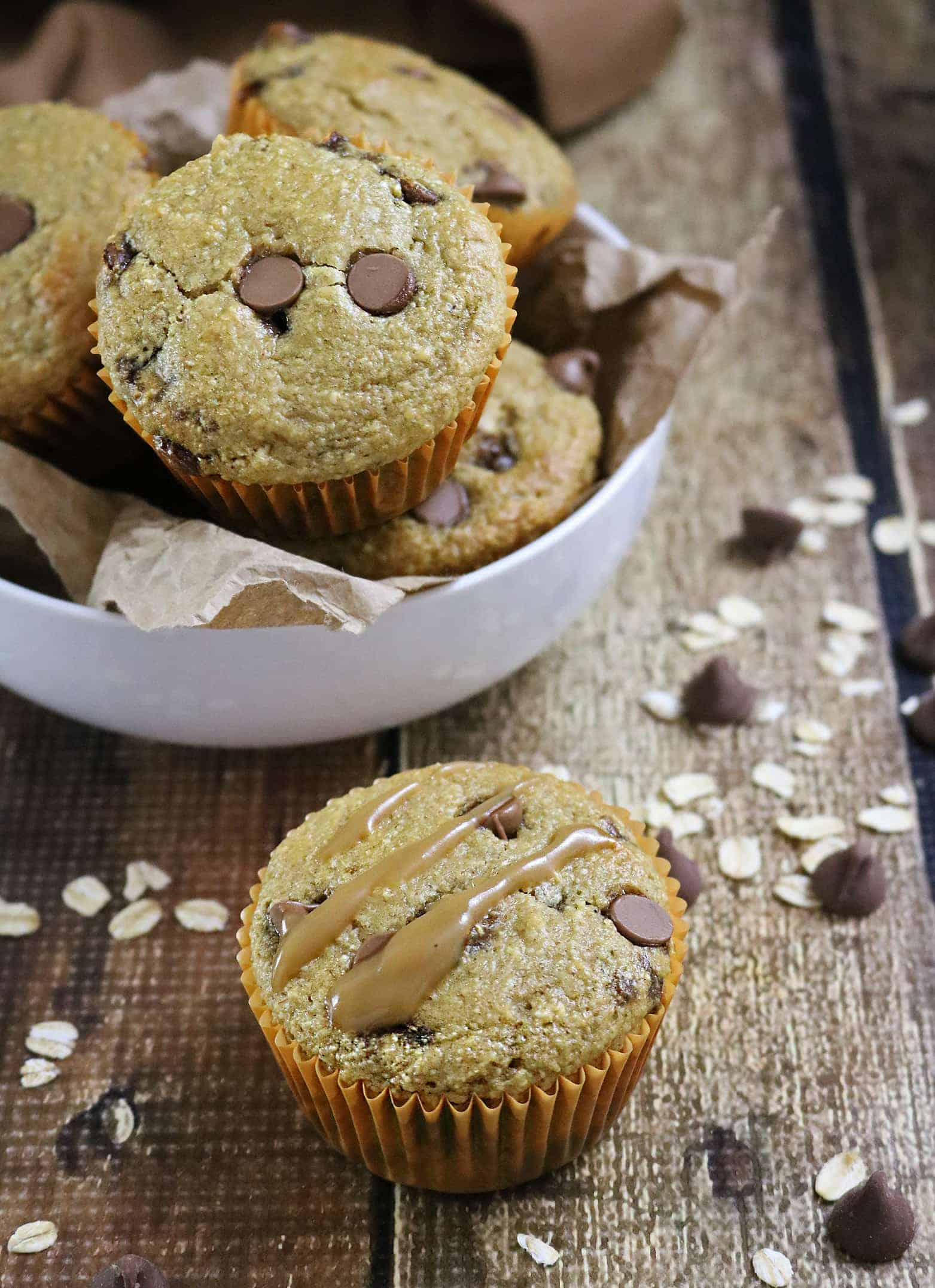 Gluten free Caramel Chocolate Muffins And Iced Caramel Mocha