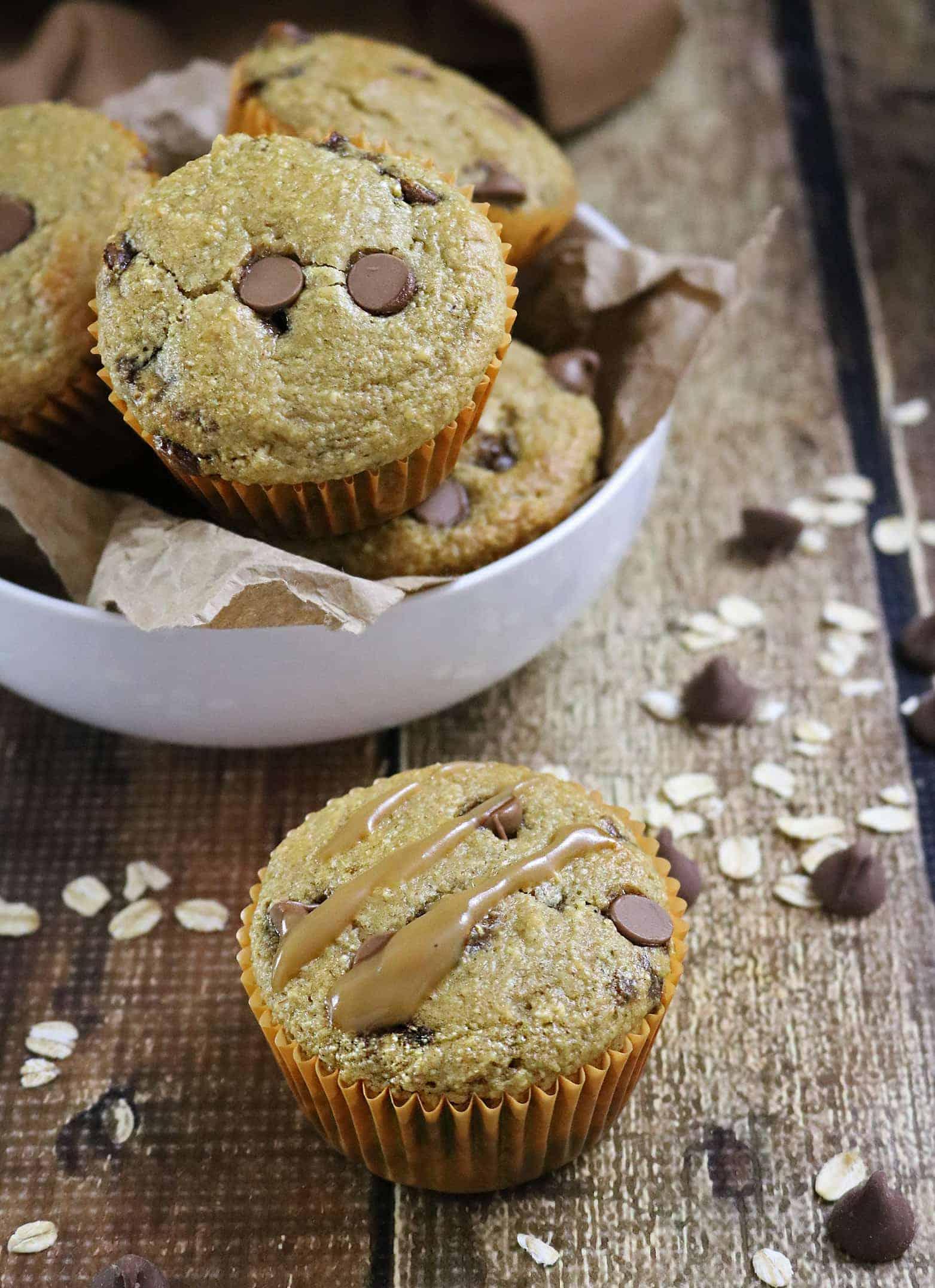 Gluten free Caramel Chocolate Muffins And Iced Caramel Mocha