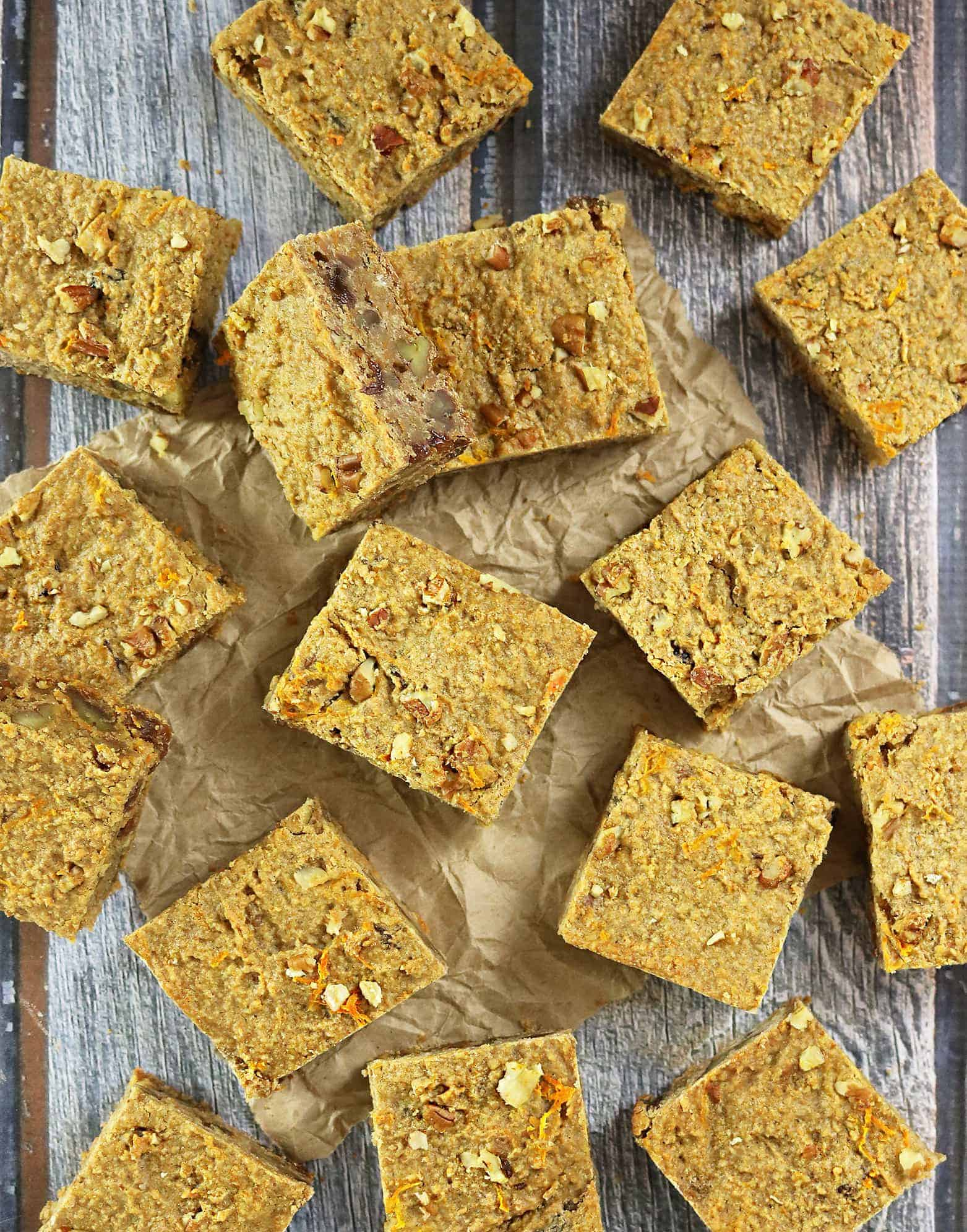 Blender Carrot Cake Breakfast Bars