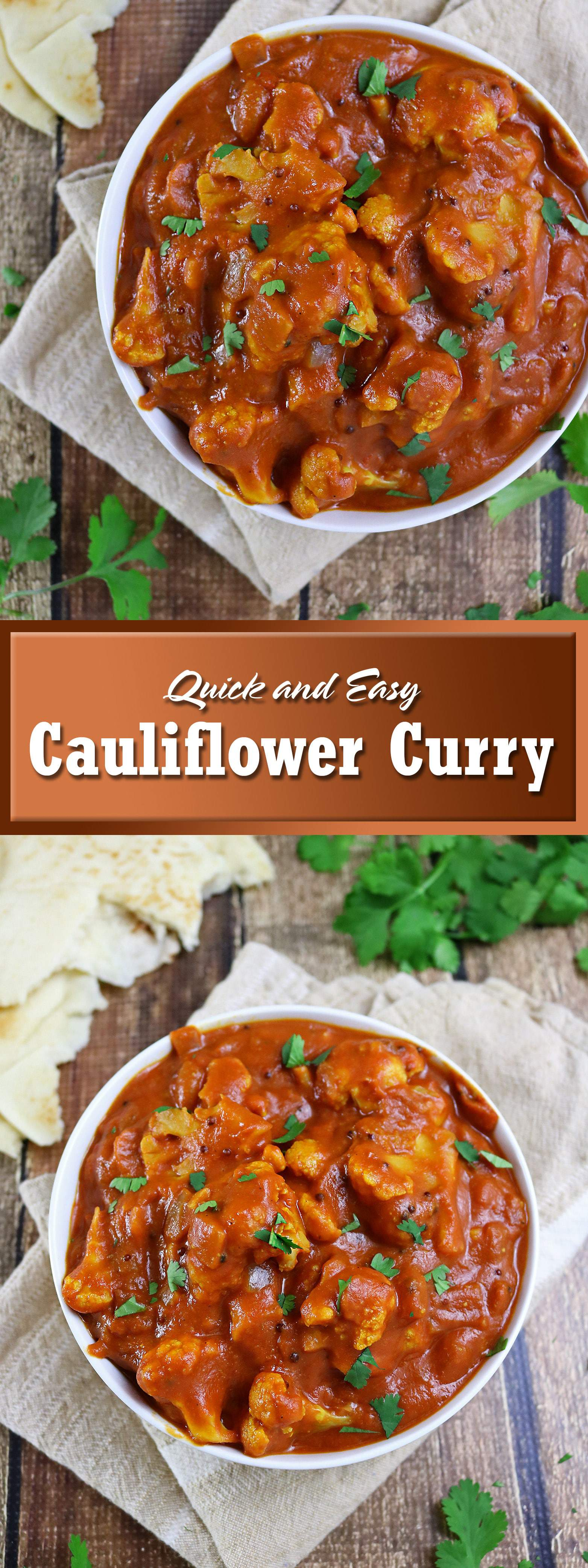 Quick And Easy Cauliflower Curry