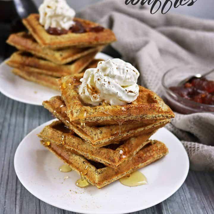 Flax Protein Waffles