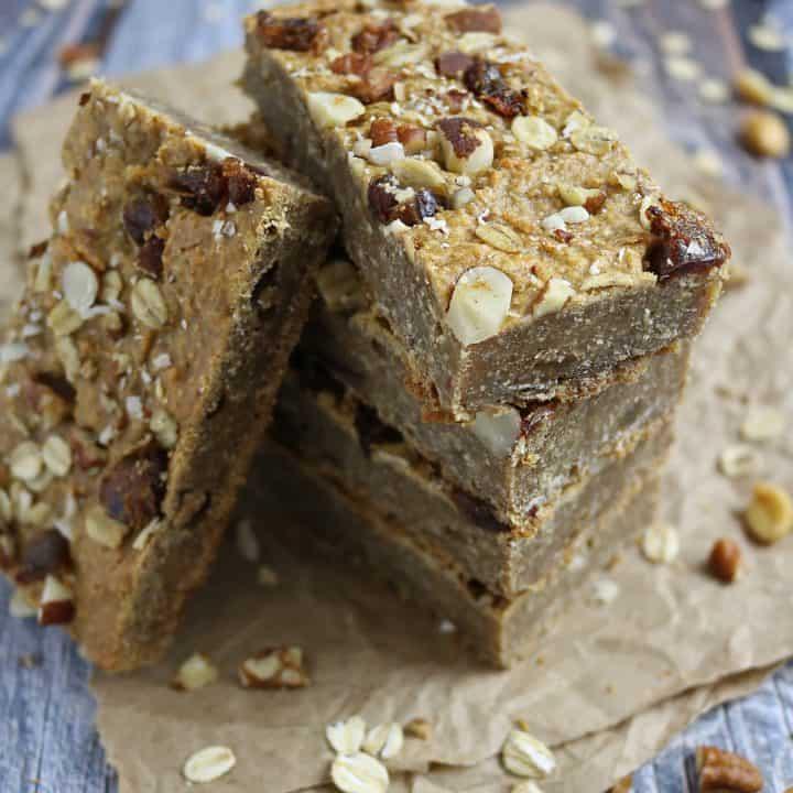 Simply Nutty Bars • Peanut Butter Oat Breakfast Bars