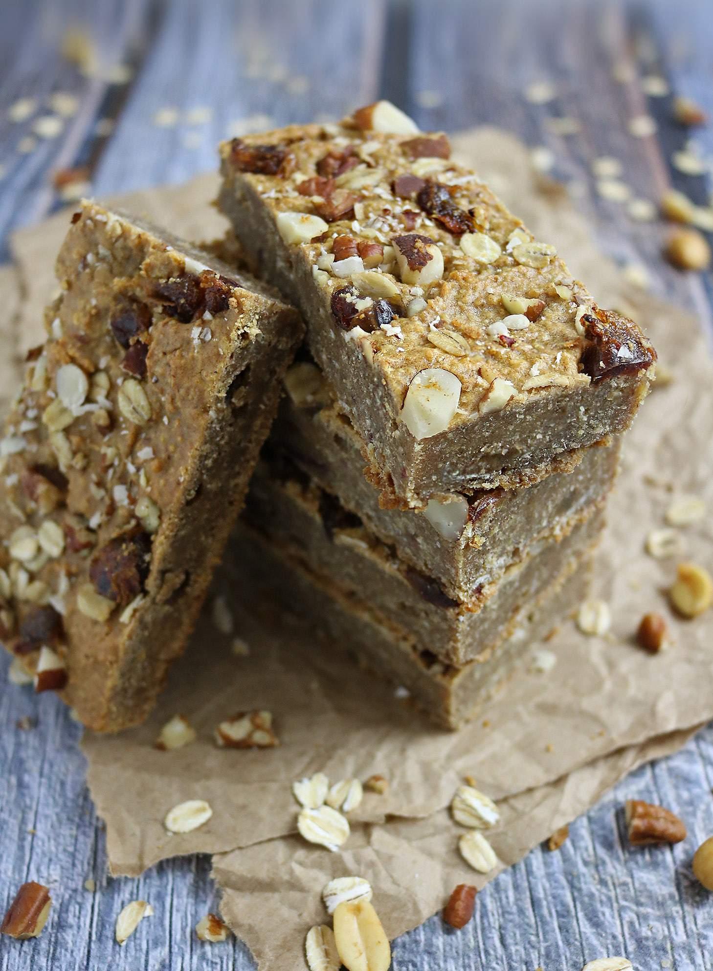 Simply Nutty Bars aka Peanut Butter Oat Breakfast Bars