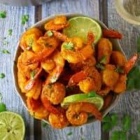 Spiced Lime Shrimp & Turmeric Cauliflower Rice