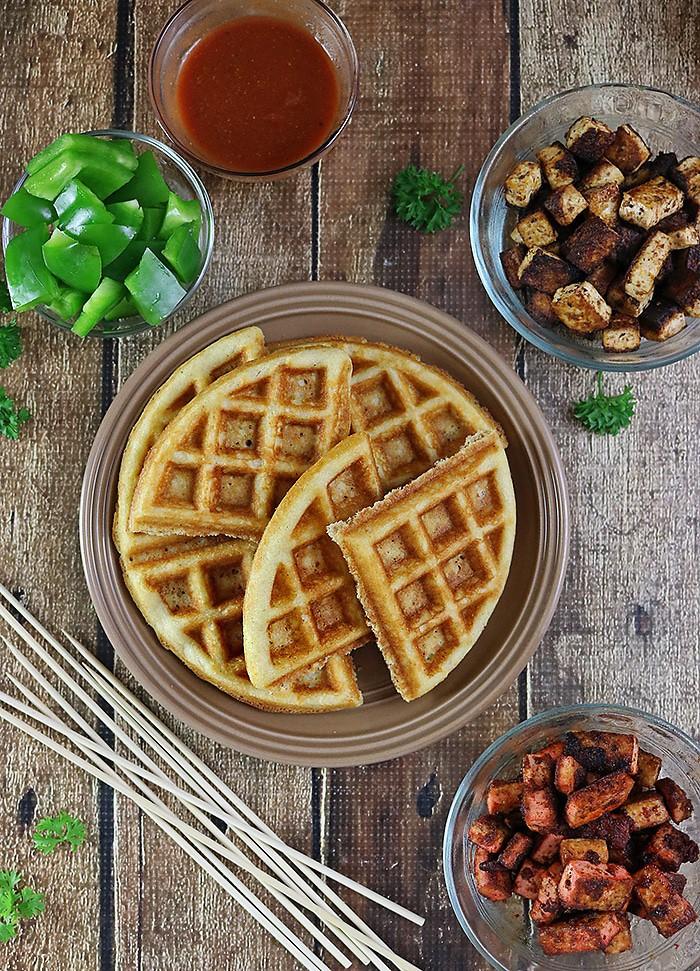 Spicy Waffles With El Yucateco