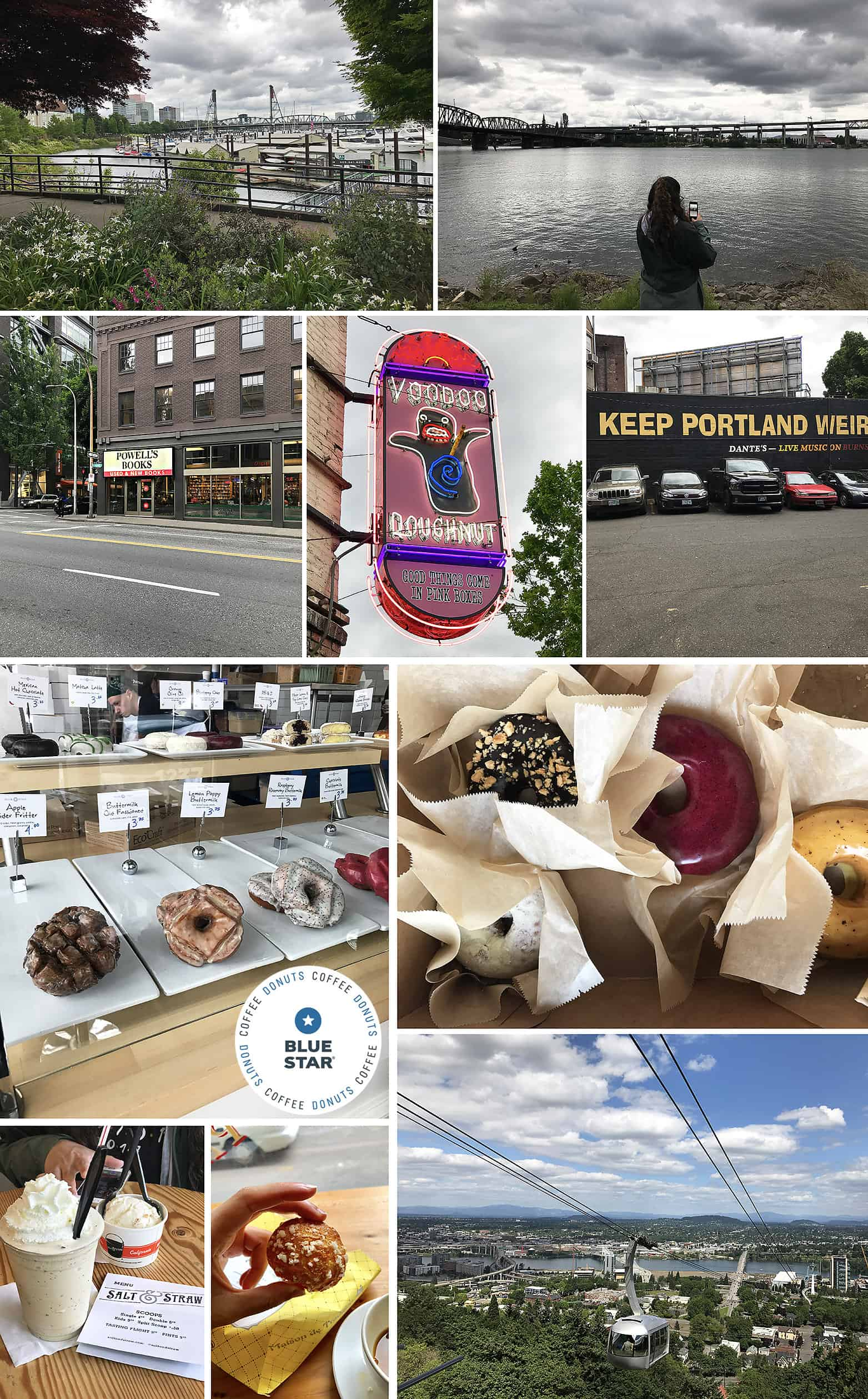 Around Portland Waterfront and Blue Star Donuts