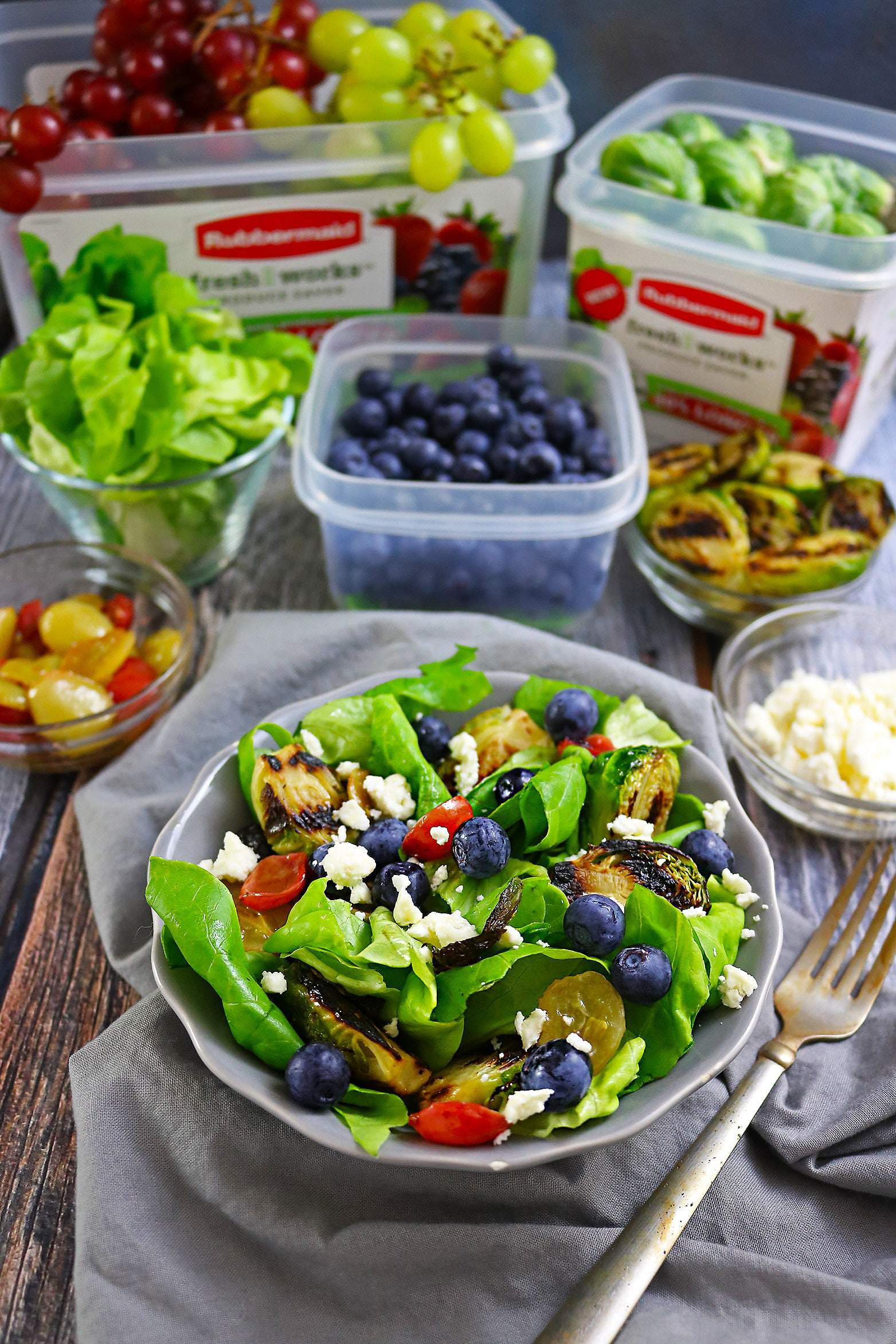 Grilled Brussels Sprouts And Summer Berry Salad