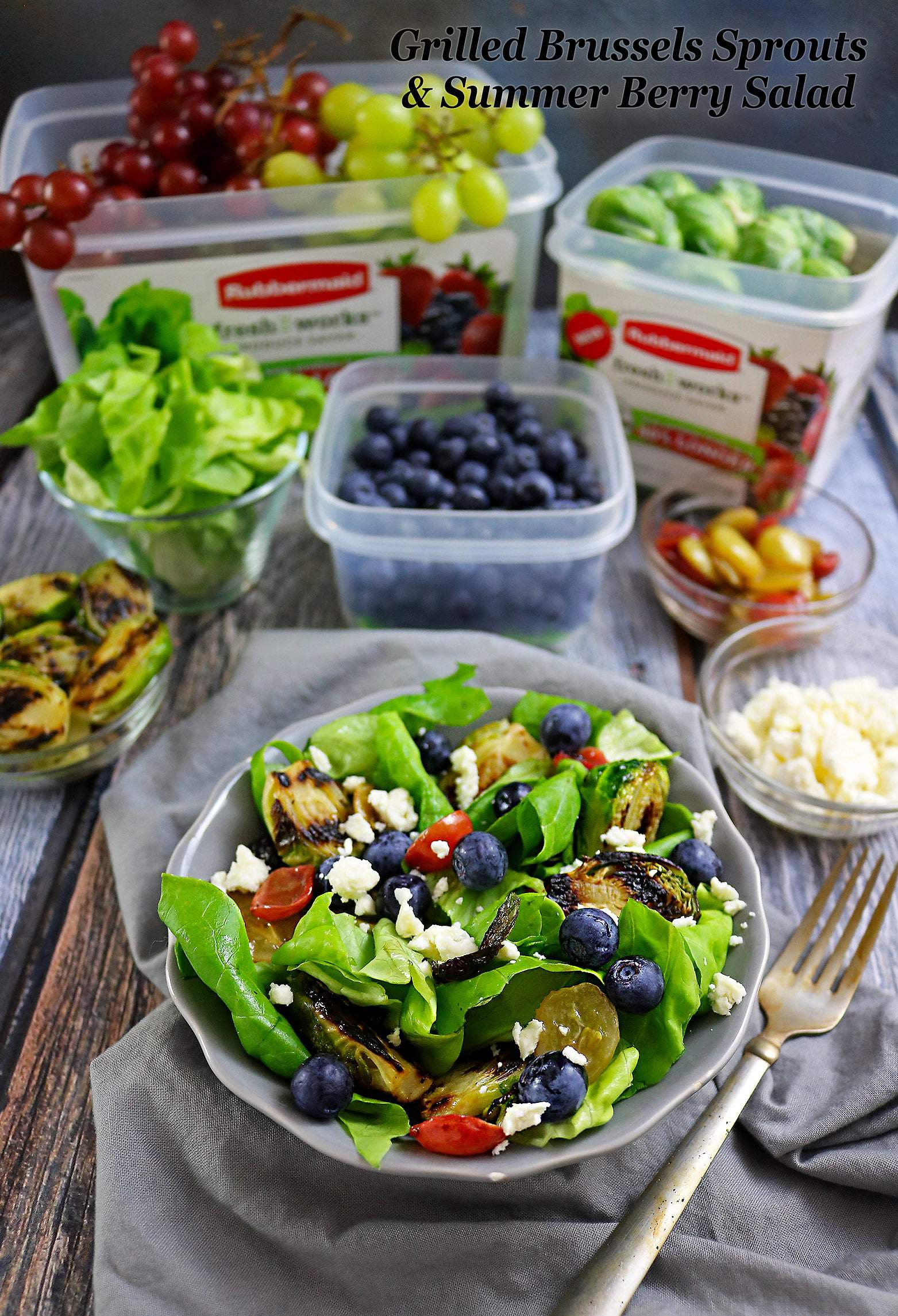 Easy Grilled Brussels Sprouts And Summer Berry Salad