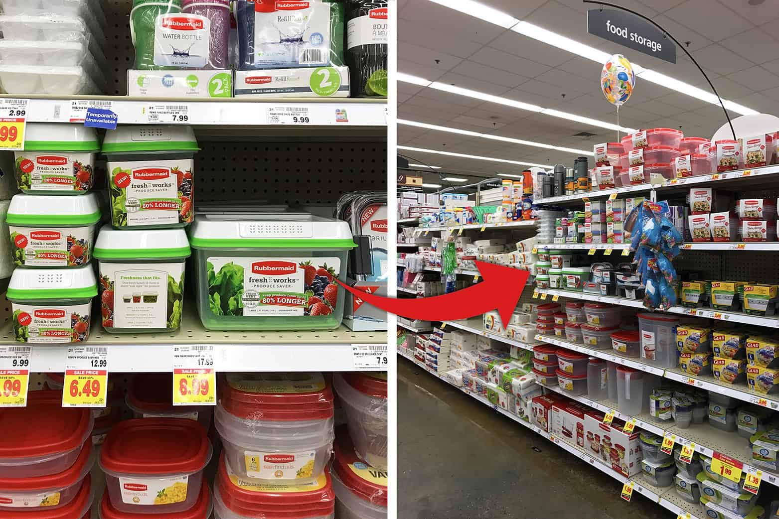 Rubbermaid Fresh Works at Kroger