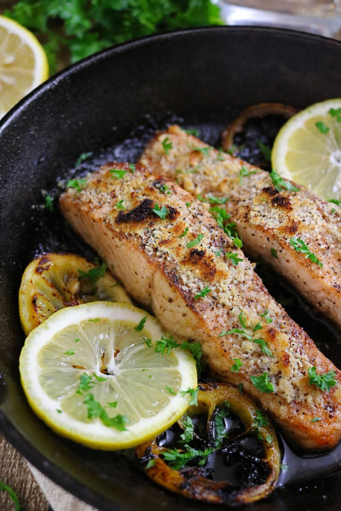 Almond Encrusted Lemon Salmon