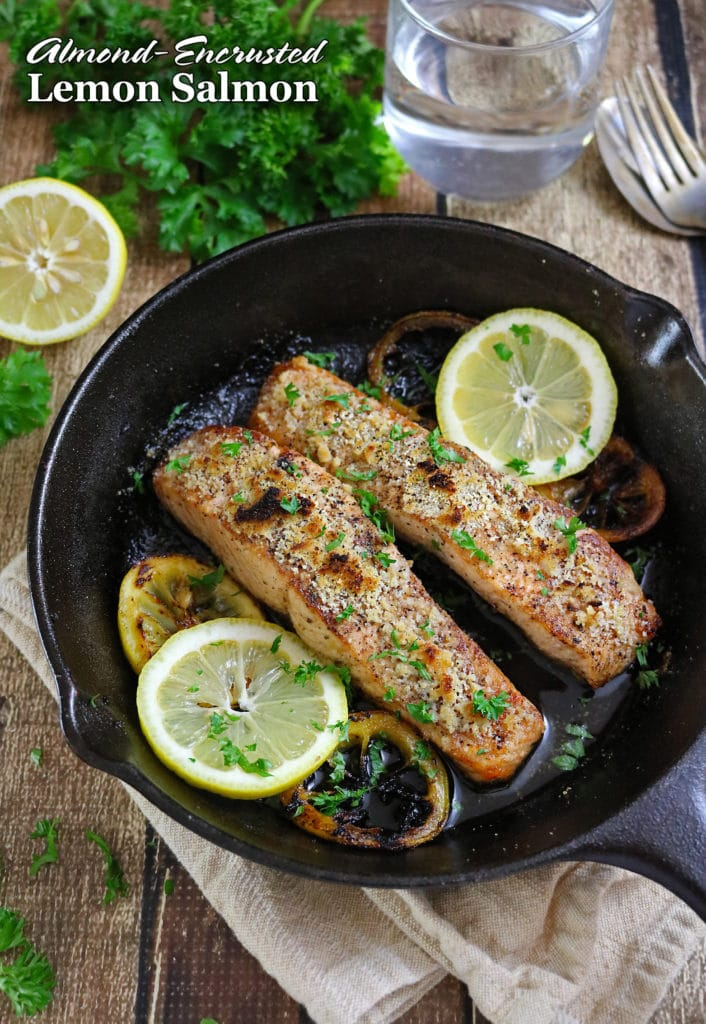 Almond Encrusted Lemon Salmon GlutenFree