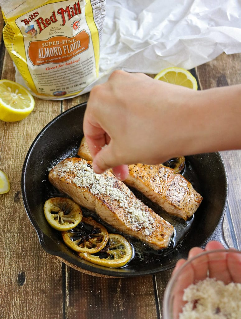 Easy Almond Encrusted Lemon Salmon