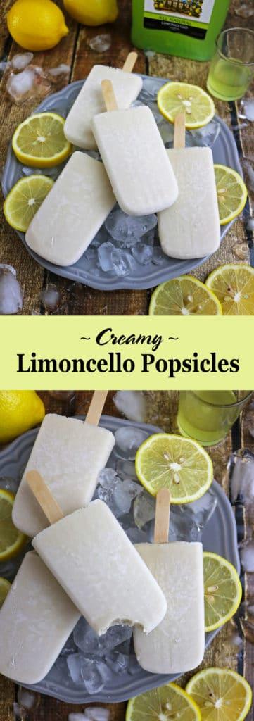 3 Ingredient Creamy Limoncello Popsicles