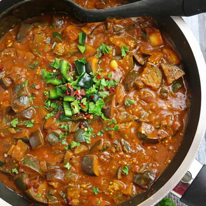 Easy Eggplant Pablano Pepper Curry