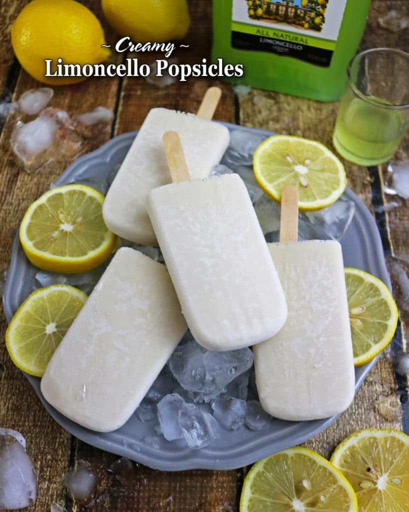 Easy Limoncello Popsicles