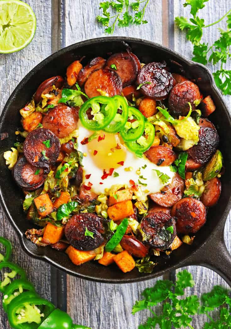 Easy Smoked Sausage And Veggie Breakfast Sauté