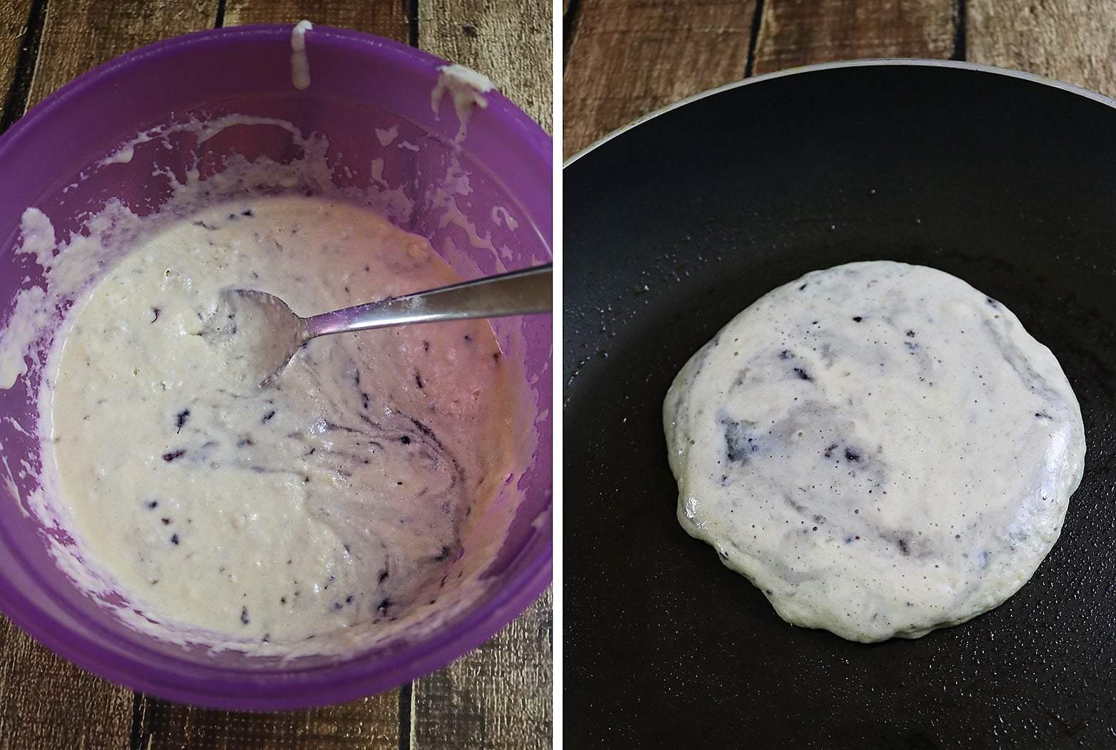 Easy Marionberry Protein Pancakes Prep