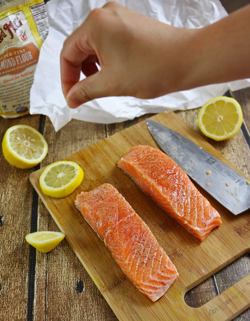 Prep Almond Encrusted Lemon Salmon