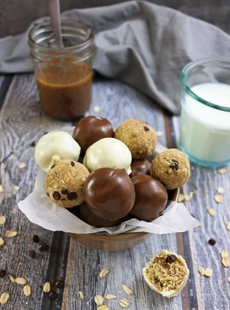 Gluten Free Caramel Chocolate Bites