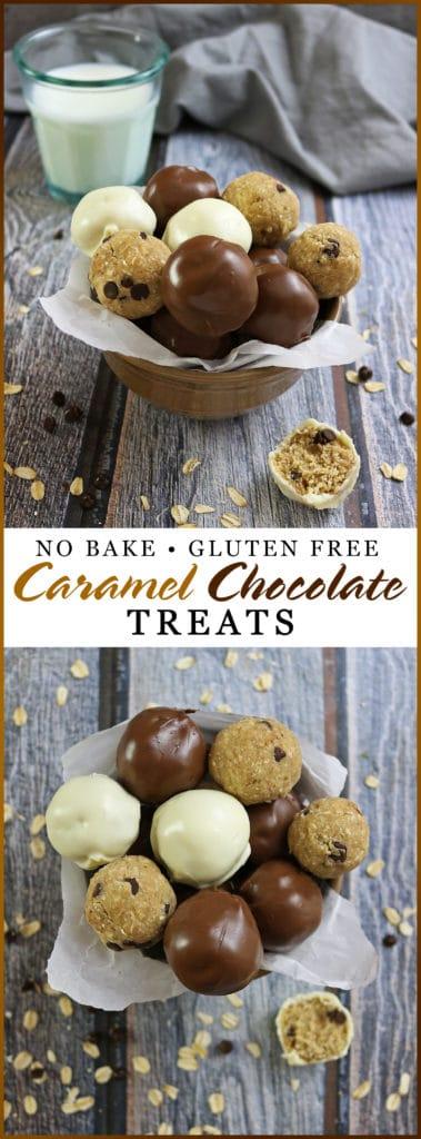 No Bake Gluten Free Caramel Chocolate Treats