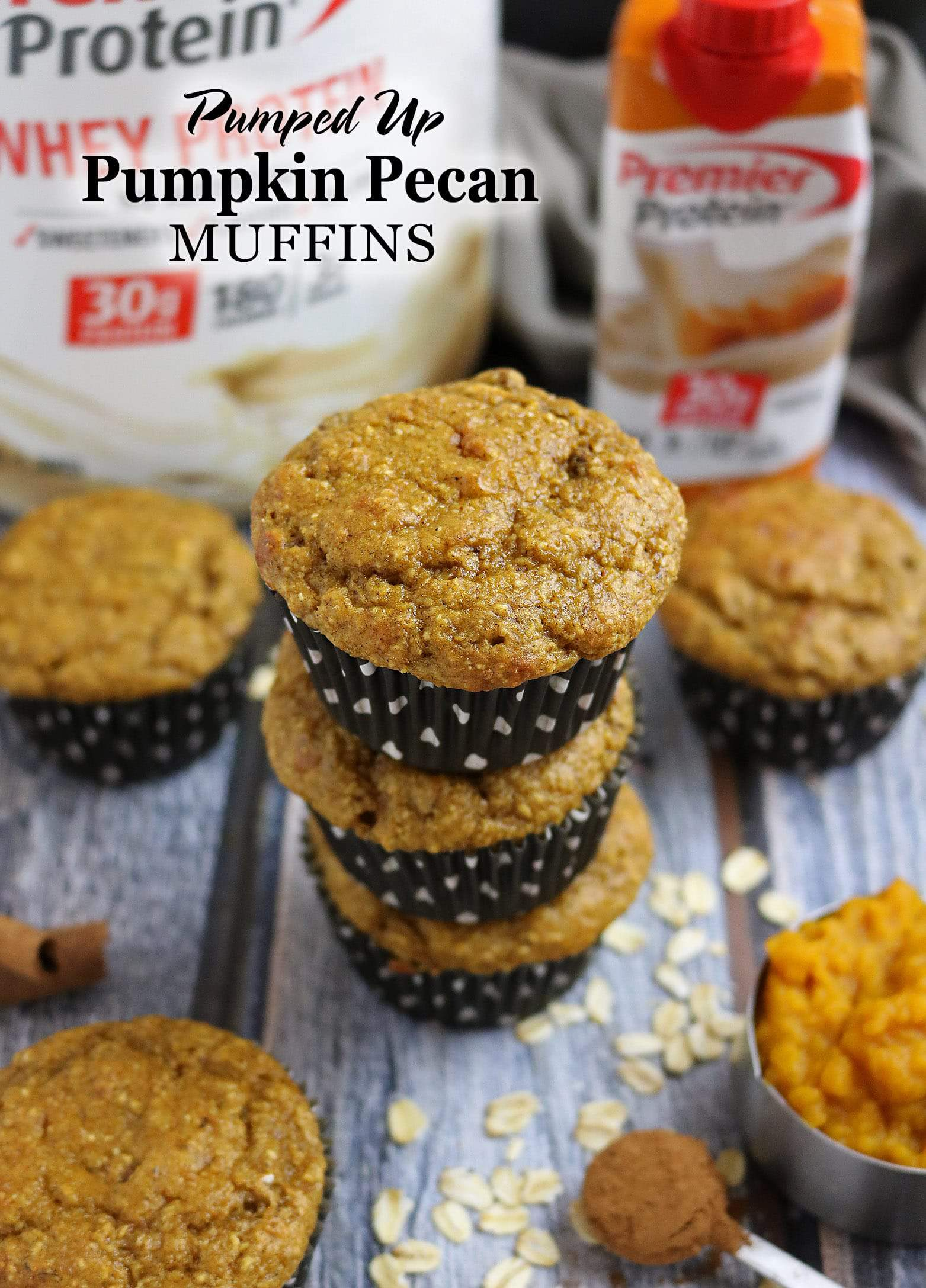 Pumped Up Pumpkin Pecan Muffins