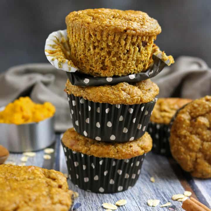 Pumped Up Pumpkin Caramel Muffins with Pecans