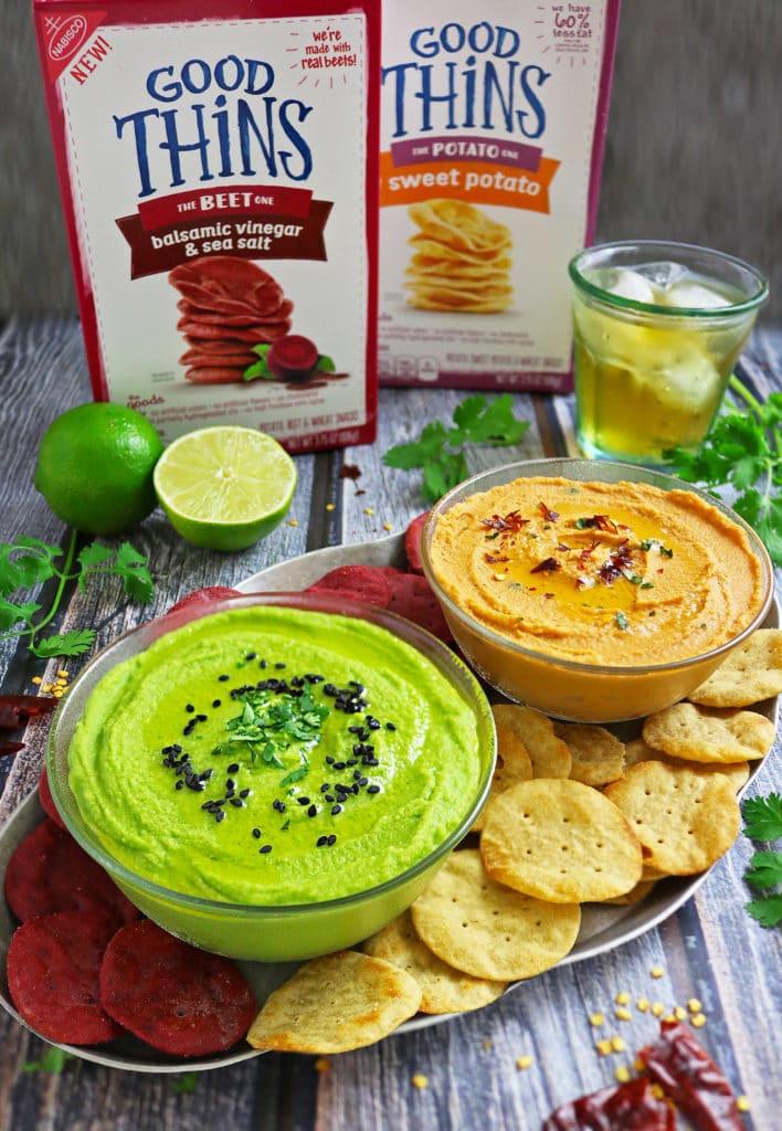 Tomato Basil Hummus Green Goddess Hummus