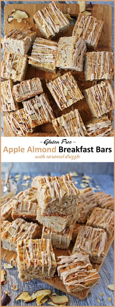 Gluten Free Apple Almond Bars With Caramel Drizzle #BRMCares