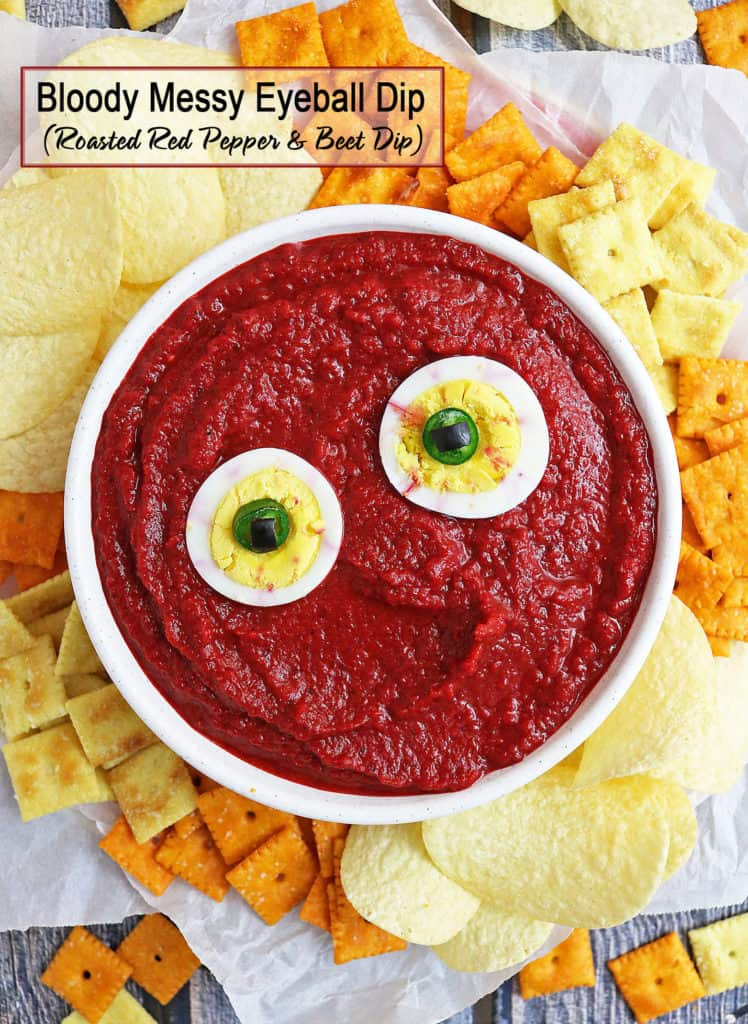 Bloody Messy Roasted Red Pepper Beet Dip