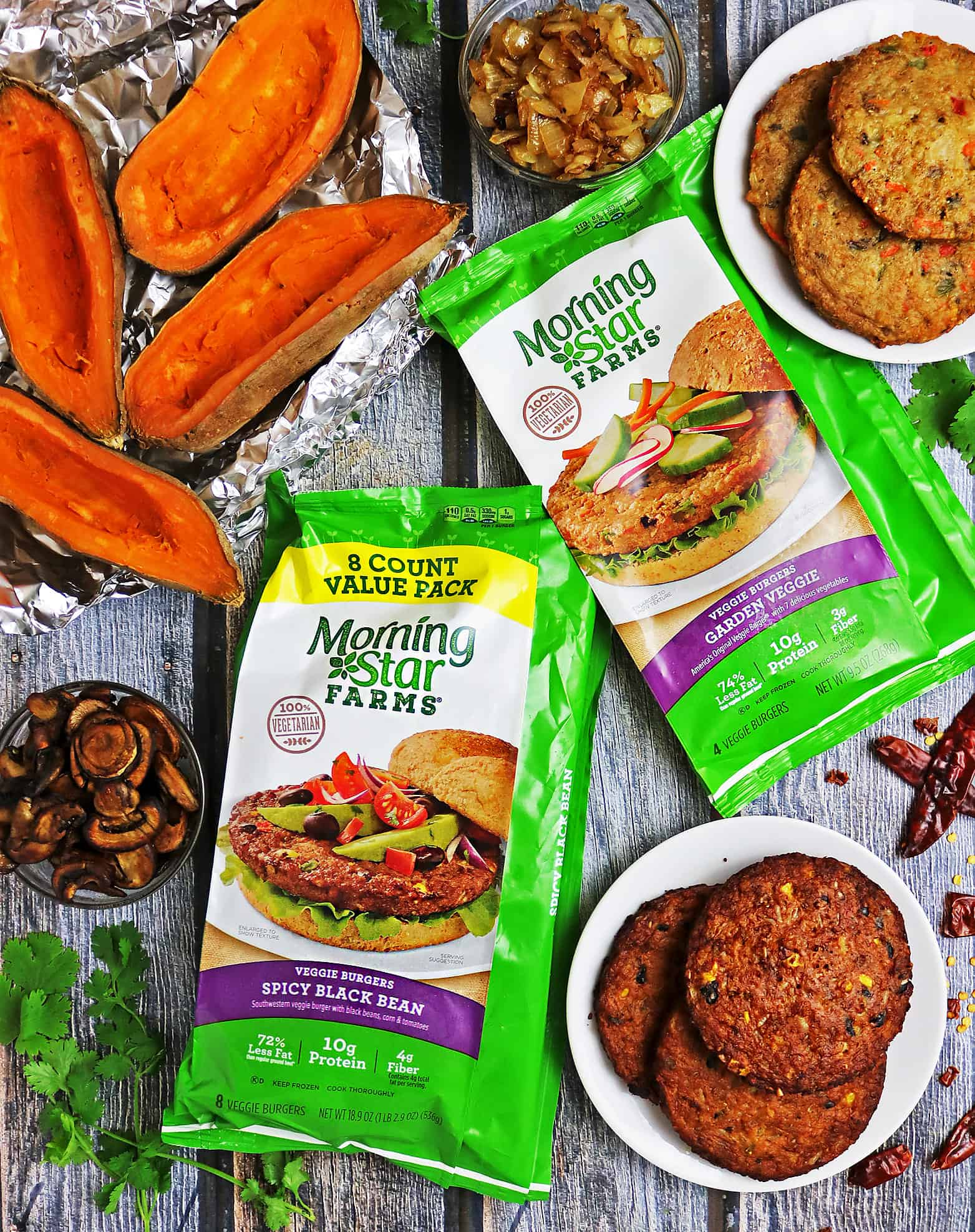 Spicy Veggie Burger Stuffed Sweet Potatoes A Vegetarian Recipe