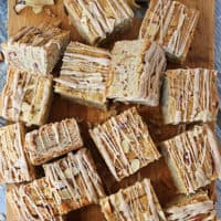Gluten Free Apple Almond Bars With Caramel Drizzle
