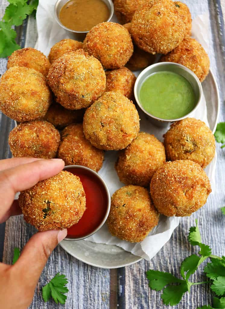Spicy Carrot Spinach Croquettes #FieldToBottle