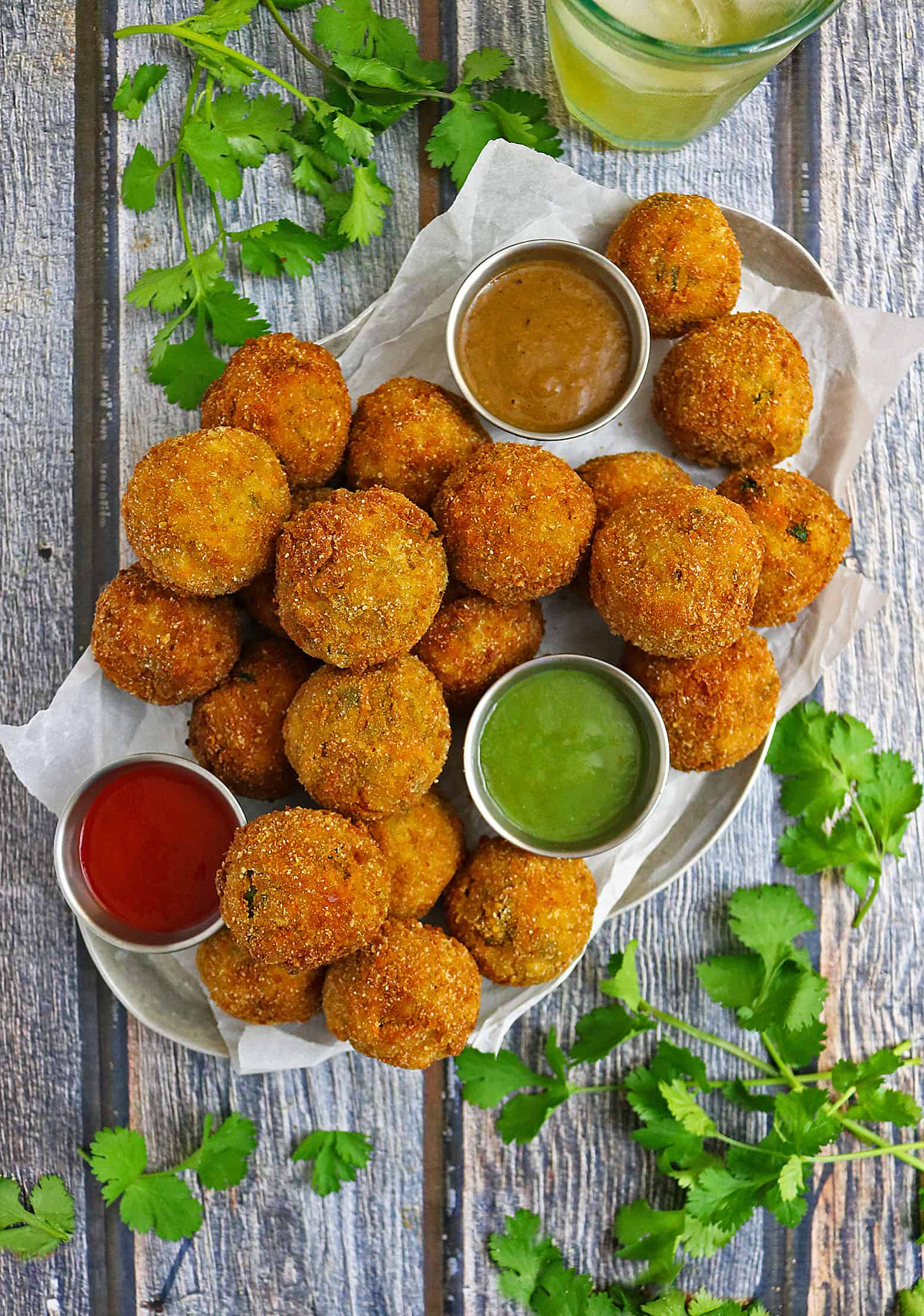 Spicy Carrot Spinach Croquettes #KingofFlavor