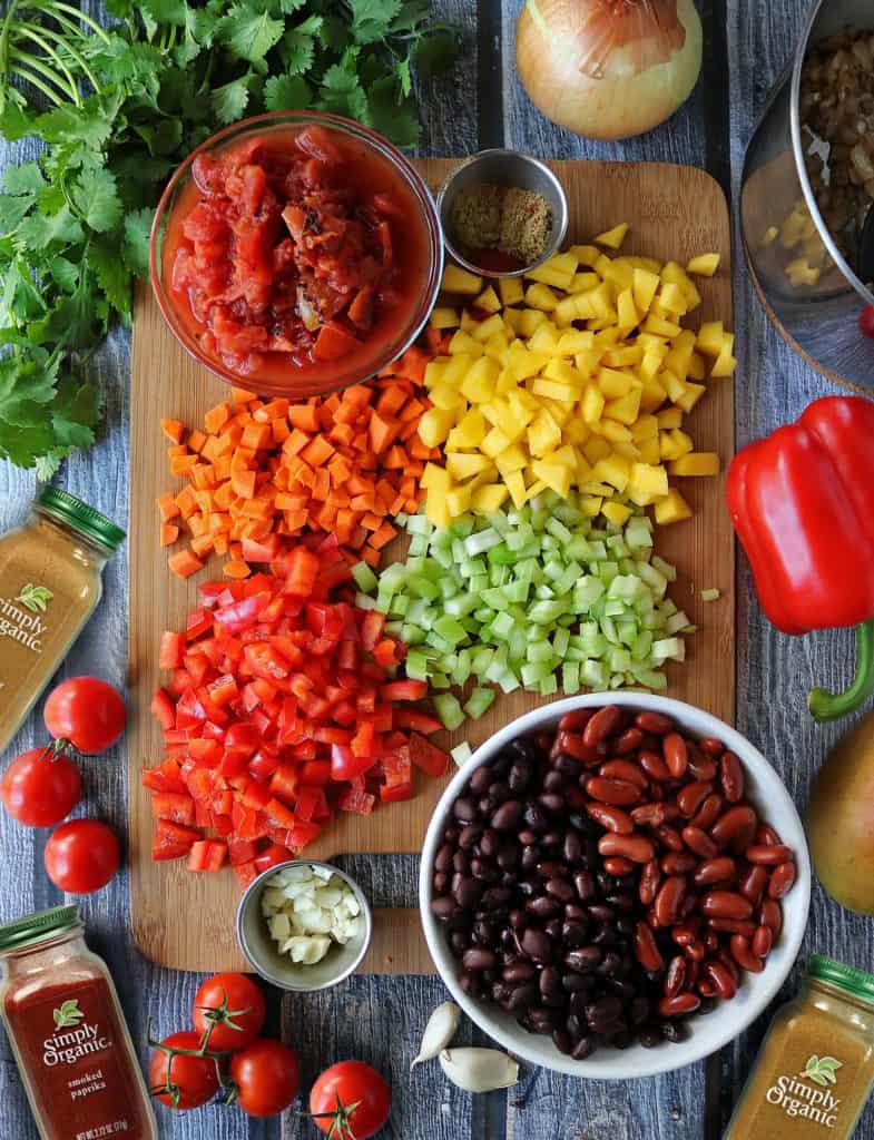 Vegetarian Mango Chili Prep