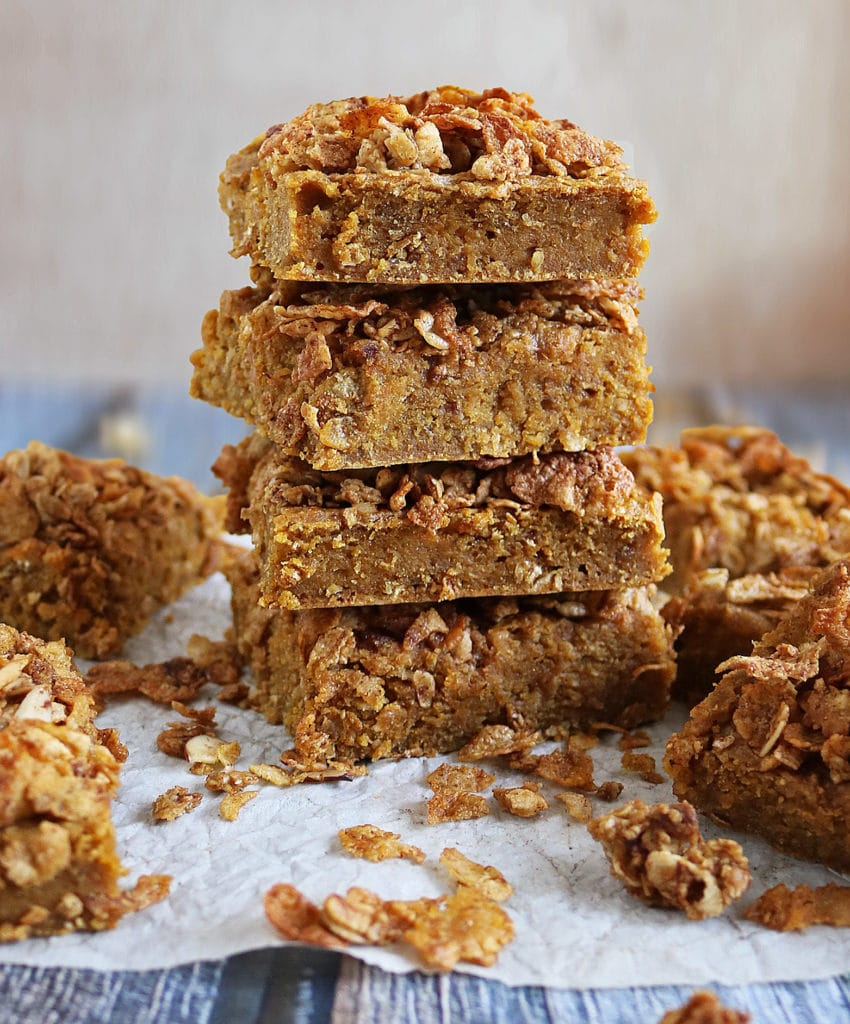 Blender Nutty Sweet Potato Breakfast Bars