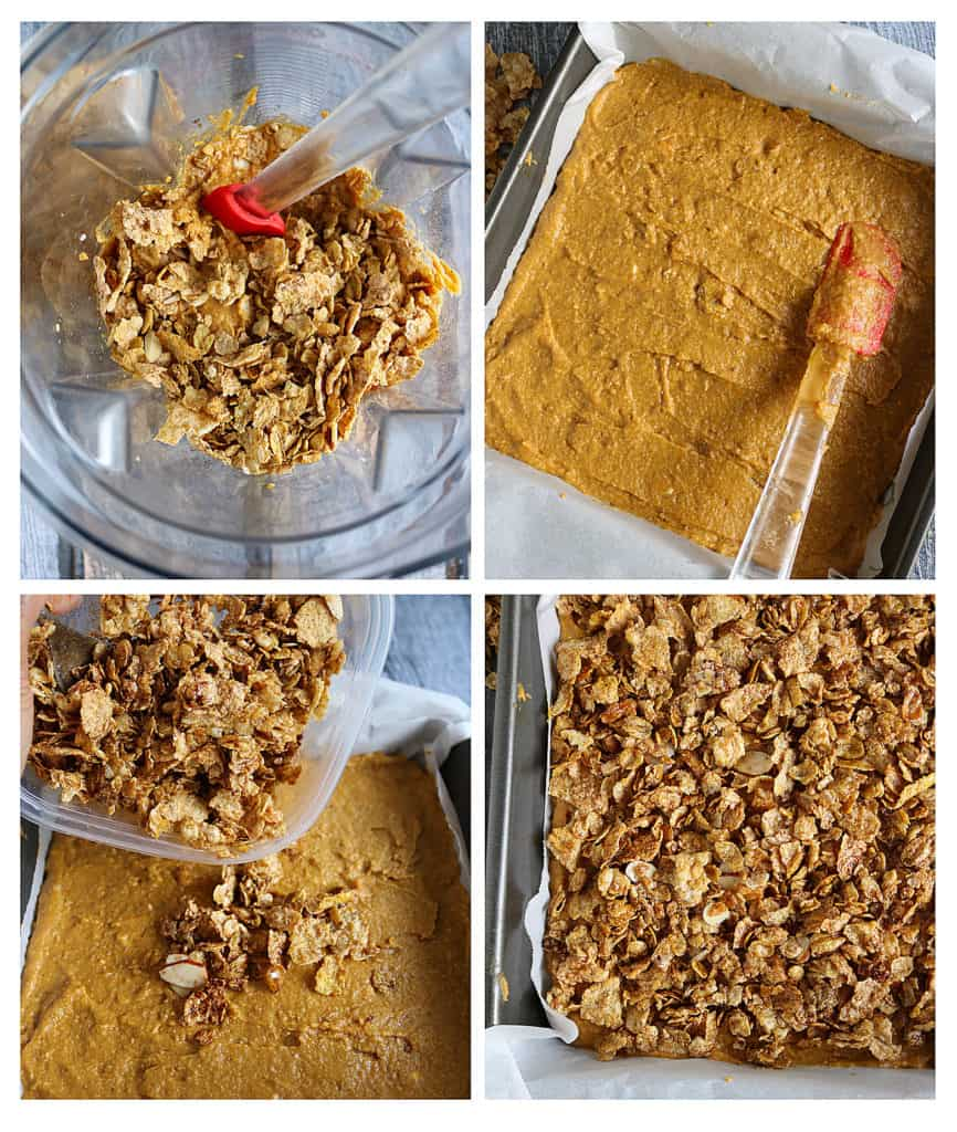 Blender Sweet Potato Bars Preparation